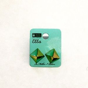 Ella Turquoise and gold Earrings